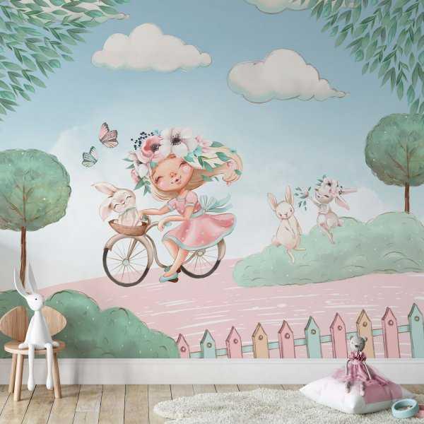 tapeta na ścianę lady journey