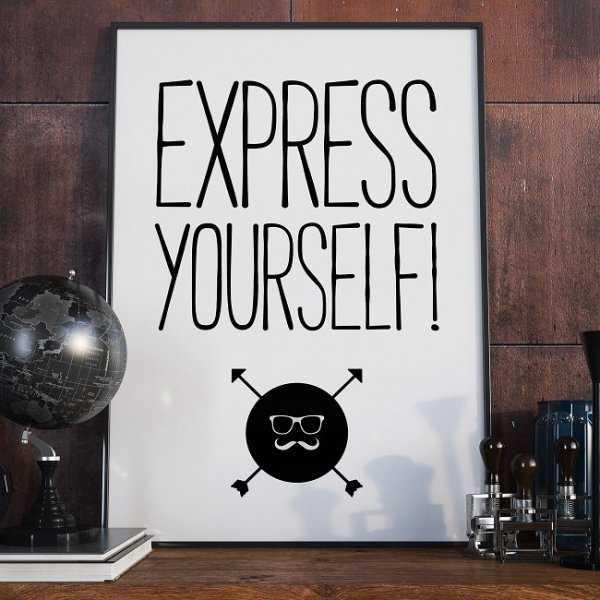 EXPRESS YOURSELF - Plakat typograficzny