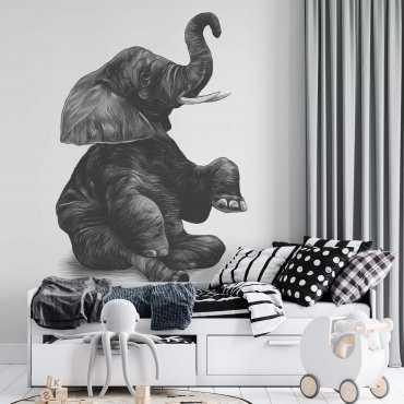 huge elephant tapeta ścienna