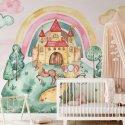 tapeta motyw pastel castle