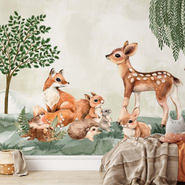 tapeta dziecięca woods babies