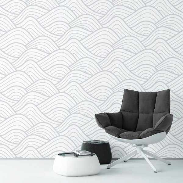 3D WAVES - Tapeta ścienna