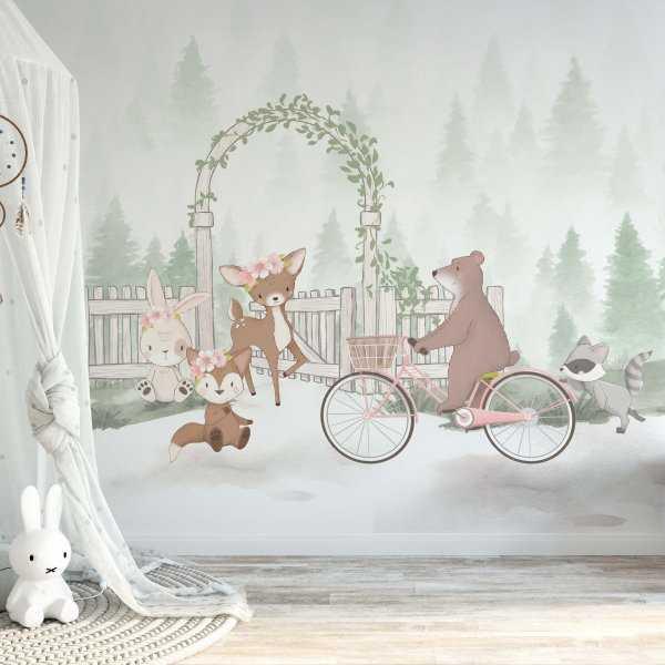 forest meeting tapeta na ścianę