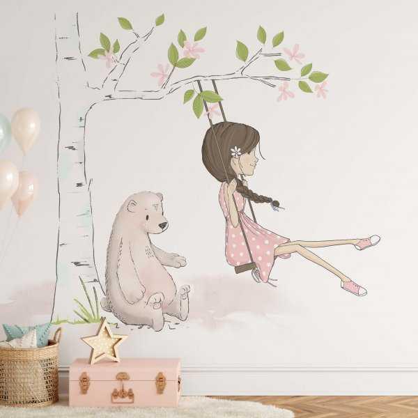 tree swing tapeta