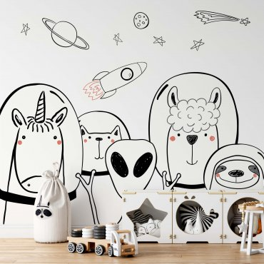 tapeta dziecięca ufo friends