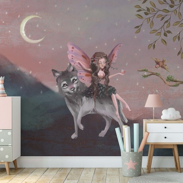 tapeta dziecięca wolf journey