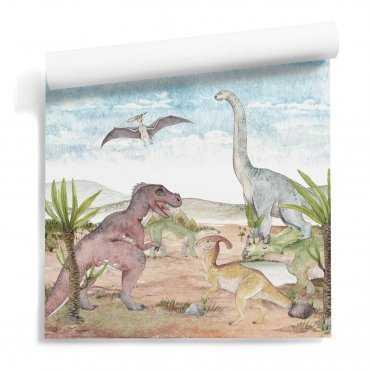 tapeta w dinozaury dino area