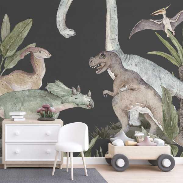 tapeta dla dziecka dinosaur room