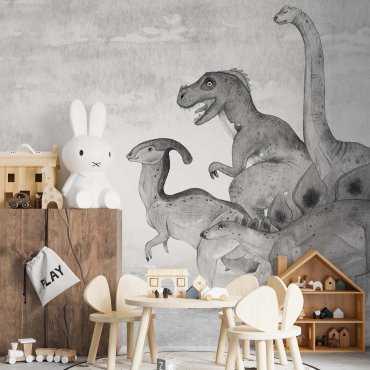 tapeta na ścianę soft dinos