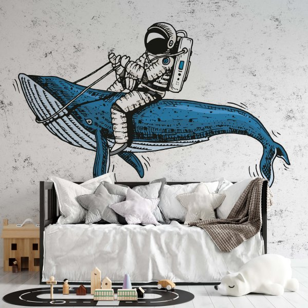 tapeta dla dzieci whale rodeo