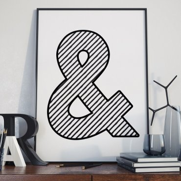 "SYMBOL ""&"" (AND) - Plakat designerski"