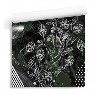 tapeta  ścienna eclectic flower
