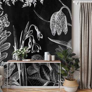 planty forest tapeta na ścianę