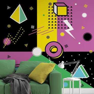 tapeta na ścianę purple chaos