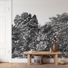 tapeta na ścianę retro forest sketch