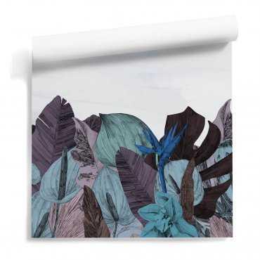 tapeta floral mountains wzór