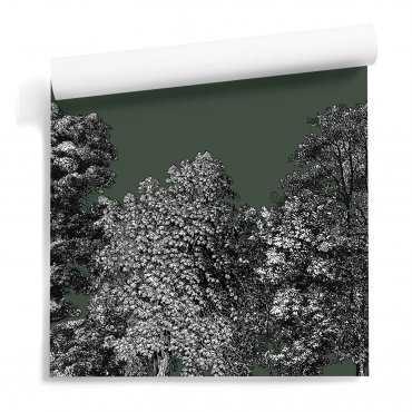 tapeta z lasem tree garden