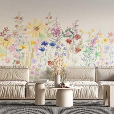 tapeta field flowers