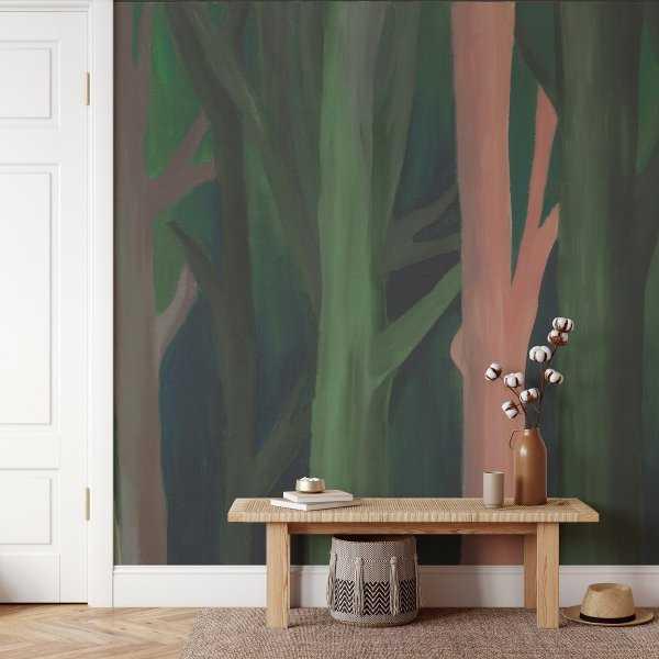 tapeta painting woods