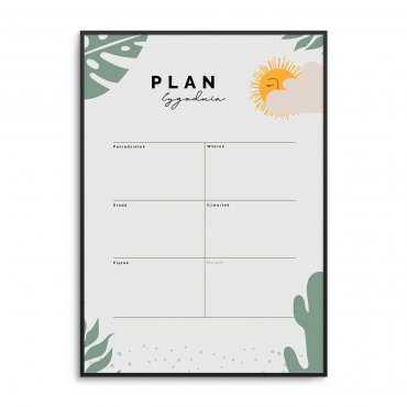 plan tygodnia dla dzieci