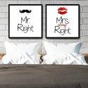 Mr. & Mrs. Right - Komplet plakatów typograficznych