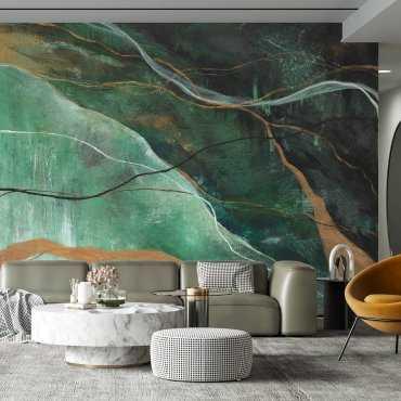 tapeta na ścianę golden moss