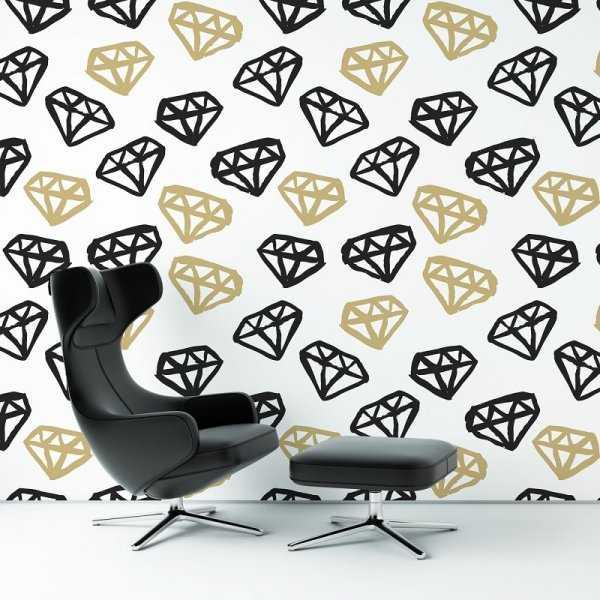 DIAMONDS WORLD - Tapeta ścienna