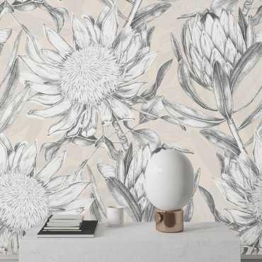florisketch tapeta w kwiaty