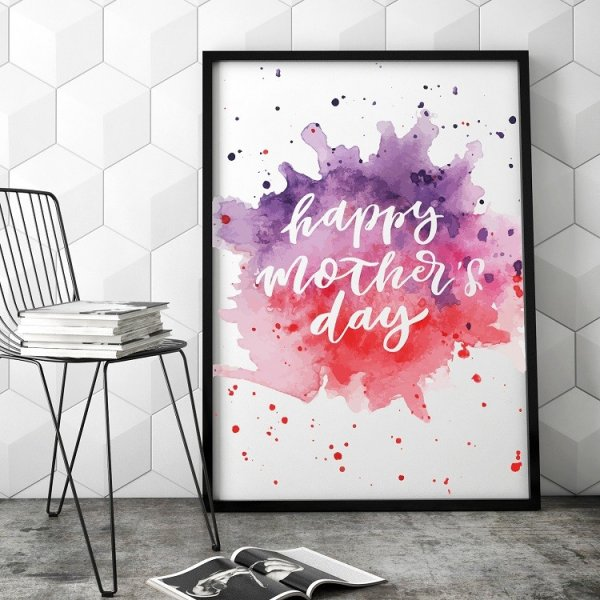 Abstract Mother's Day - Plakat dla Mamy