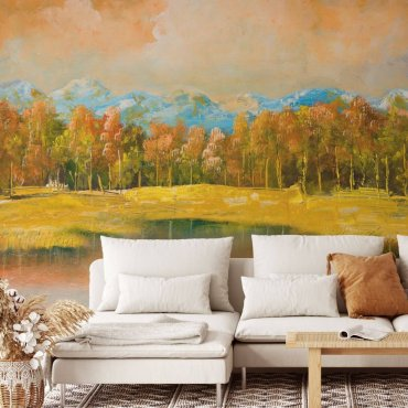 tapeta pejzaż golden landscape