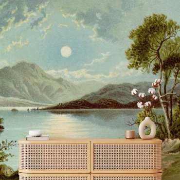 tapeta krajobraz sunset lake