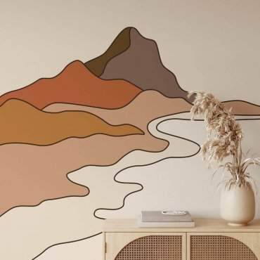 tapeta motyw volcano lines