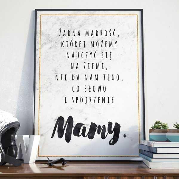 Słowo i spojrzenie Mamy - Plakat dla Mamy