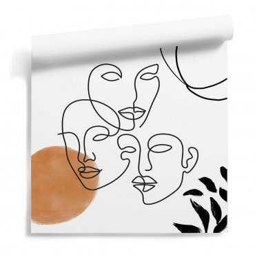 tapeta line art facemaze