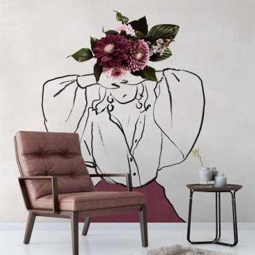 tapeta motyw floral head