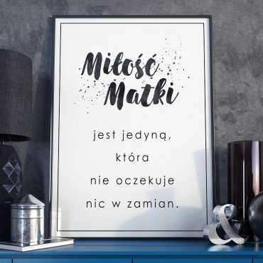 Miłość matki - Plakat dla Mamy