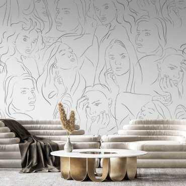tapeta line art look of beauty