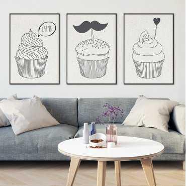 MUFFINS DESIGN - Komplet plakatów