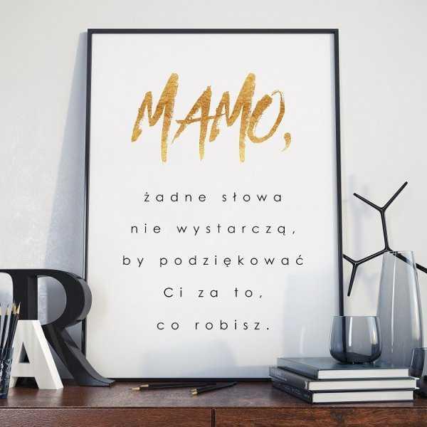 Podziękowanie - Plakat dla Mamy