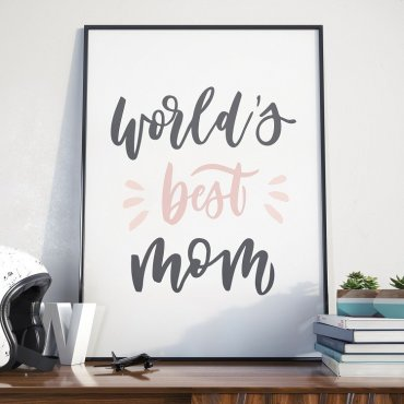 World's best mom - Plakat dla Mamy