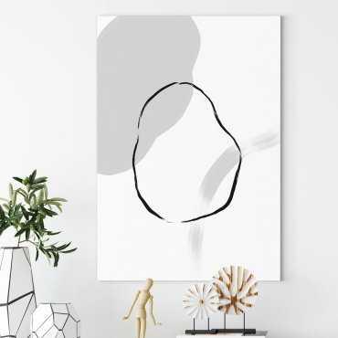 circle stain obraz na płótnie