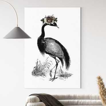 obraz na płótnie flower bird