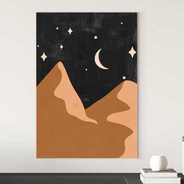 mountains moon obraz na płótnie