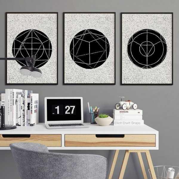 GEOMETRIC DESIGN - Komplet plakatów
