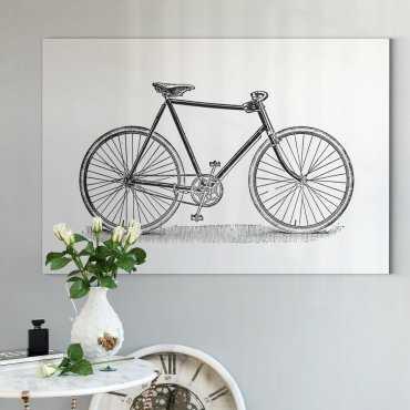 obraz retro bicycle