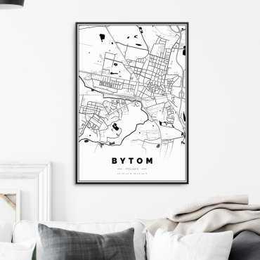 mapa bytomia na plakacie