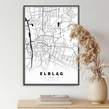 mapa elbląga plakat