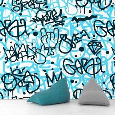 SKY GRAFFITI - Tapeta na ścianę