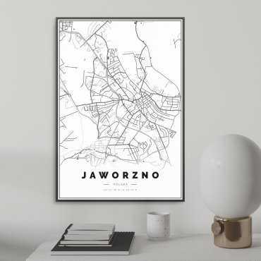 mapa jaworzna plakat