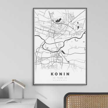 mapa konina plakat w ramie